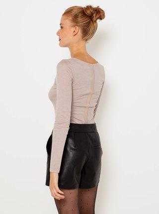Tričká s krátkym rukávom pre ženy CAMAIEU - staroružová