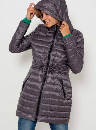 Šedý prošívaný kabát CAMAIEU