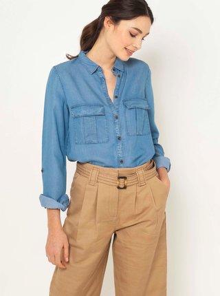 Modrá rifľová košeľa CAMAIEU