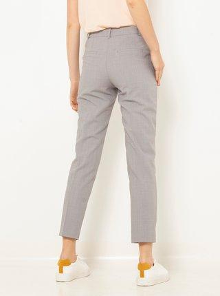 Šedé zkrácené straight fit kalhoty CAMAIEU