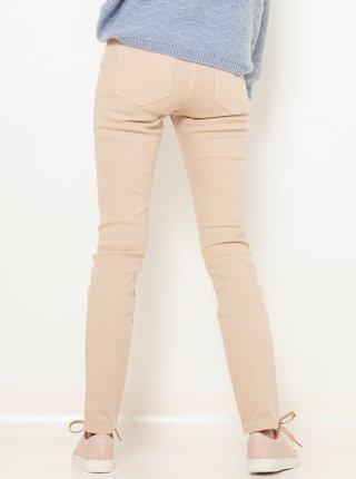 Béžové slim fit kalhoty CAMAIEU