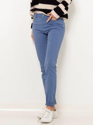 Modré slim fit kalhoty CAMAIEU