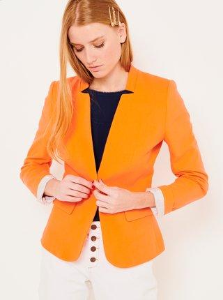 Oranžové dámské sako CAMAIEU