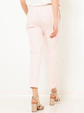 Krémové zkrácené slim fit kalhoty CAMAIEU