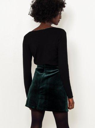 Černé tričko s dlouhým rukávem CAMAIEU