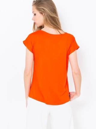 Oranžová blúzka s krajkou CAMAIEU