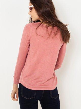 Ružové tričko s dlhým rukávom CAMAIEU