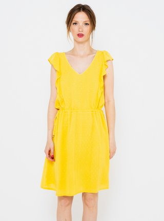 Žluté šaty s volány CAMAIEU