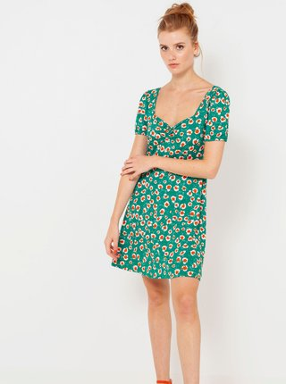 Tyrkysové kvetované šaty CAMAIEU