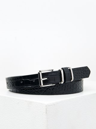 Černý pásek s krokodýlím vzorem CAMAIEU