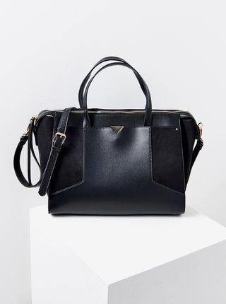 Černá kabelka s detaily v semišové úpravě CAMAIEU