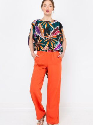 Oranžové volné kalhoty CAMAIEU