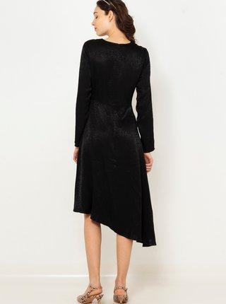 Černé šaty s hadím vzorem CAMAIEU