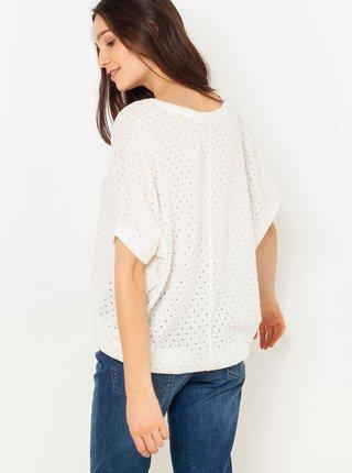 Bílé tričko s netopýřím rukávem CAMAIEU