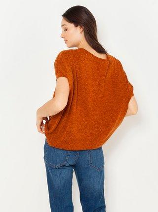 Tričká s krátkym rukávom pre ženy CAMAIEU - hnedá