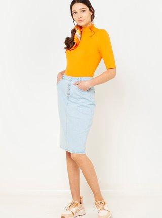 Světle modrá džínová sukně CAMAIEU