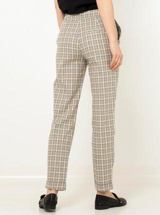 Béžové kostkované kalhoty CAMAIEU