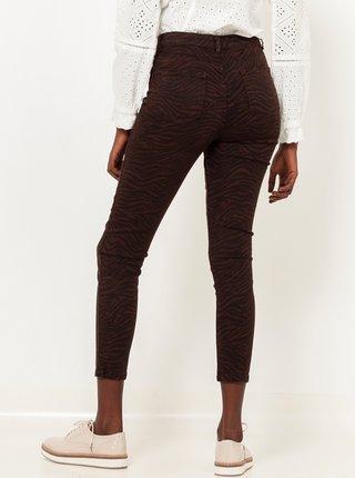 Nohavice pre ženy CAMAIEU - tmavohnedá