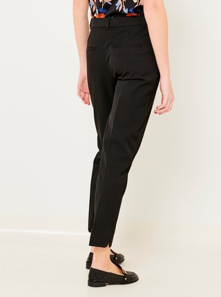 Čierne skrátené slim fit nohavice CAMAIEU