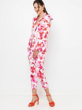 Ružovo-biele kvetované nohavice CAMAIEU