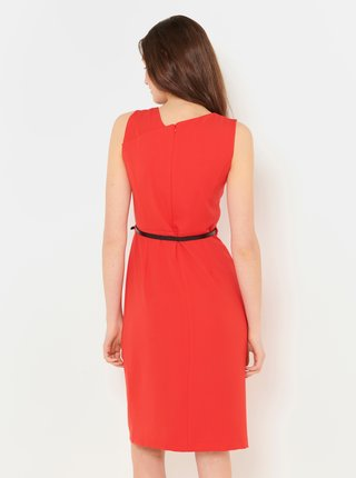 Červené šaty s páskem CAMAIEU