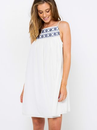 Biele šaty s ozdobným lemovaním CAMAIEU