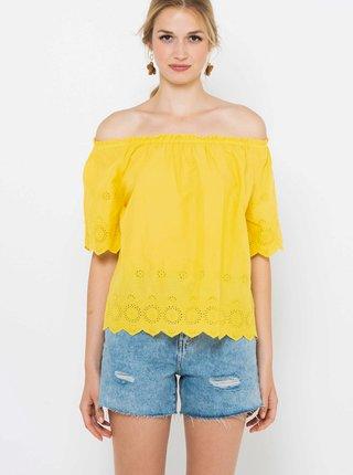 Žlutá halenka s odhalenými rameny CAMAIEU
