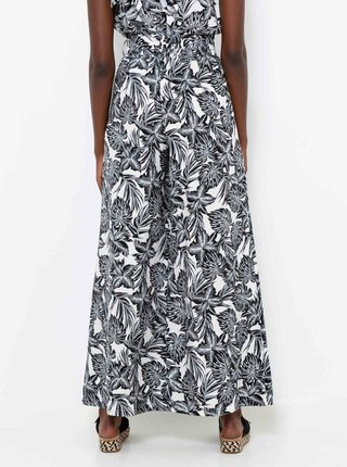 Šedé široké vzorované kalhoty CAMAIEU