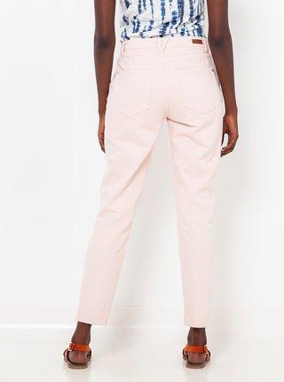 Svetloružové slim fit nohavice CAMAIEU