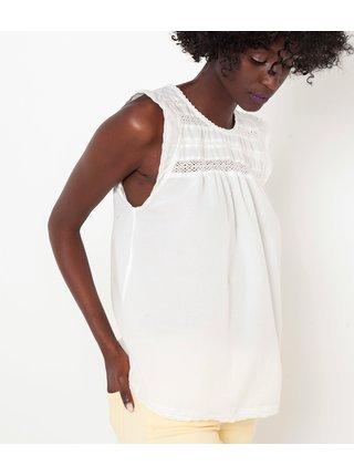 Blúzky pre ženy CAMAIEU - biela