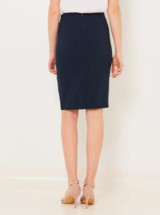 Tmavě modrá pouzdrová sukně CAMAIEU