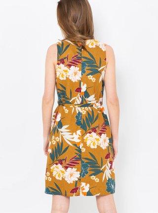 Letné a plážové šaty pre ženy CAMAIEU - horčicová