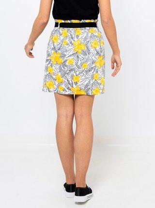 Šedá květovaná sukně CAMAIEU