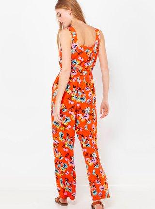 Oranžový květovaný overal CAMAIEU