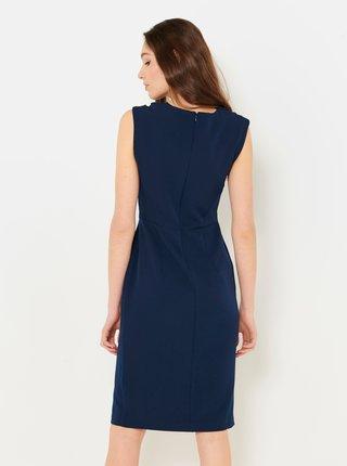 Tmavě modré pouzdrové šaty CAMAIEU