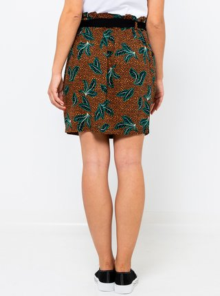 Hnědá vzorovaná sukně CAMAIEU