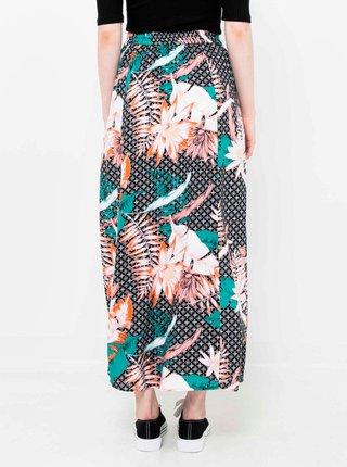 Černá květovaná maxi sukně CAMAIEU