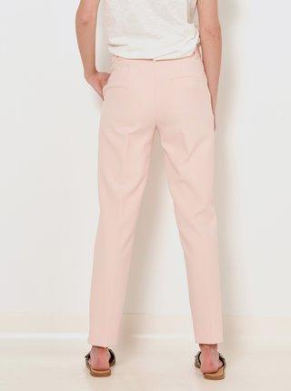 Svetloružové straight fit nohavice CAMAIEU