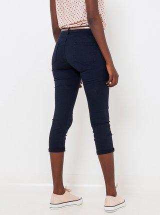 Tmavě modré 3/4  slim fit kalhoty CAMAIEU