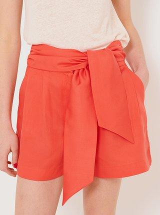 Oranžové kraťasy s vysokým pasem CAMAIEU