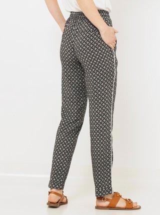Šedé vzorované kalhoty CAMAIEU