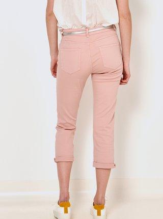 Růžové 3/4 slim fit kalhoty CAMAIEU