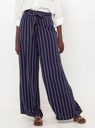 Tmavomodré pruhované nohavice CAMAIEU