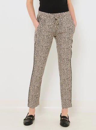 Šedé nohavice s leopardím vzorom CAMAIEU