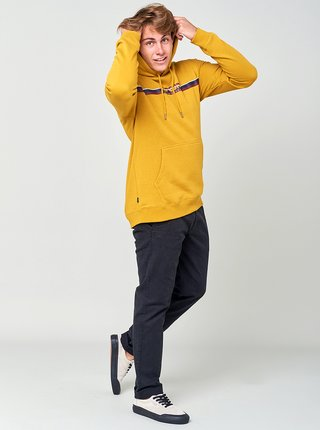 Žltá pánska mikina s kapucou Rip Curl