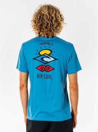 Modré pánské tričko s potiskem na zádech Rip Curl
