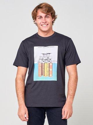 Černé pánské tričko s potiskem Rip Curl