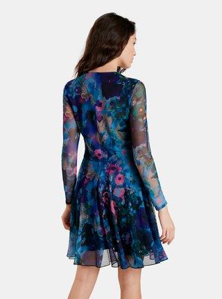 Čierno-modré vzorované šaty Desigual Qais