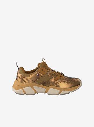 Tommy Hilfiger zlaté tenisky Metallic Tommy Chunky Sneaker Dark Gold