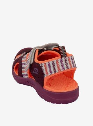 Dětská obuv městská ALPINE PRO BIELO červená